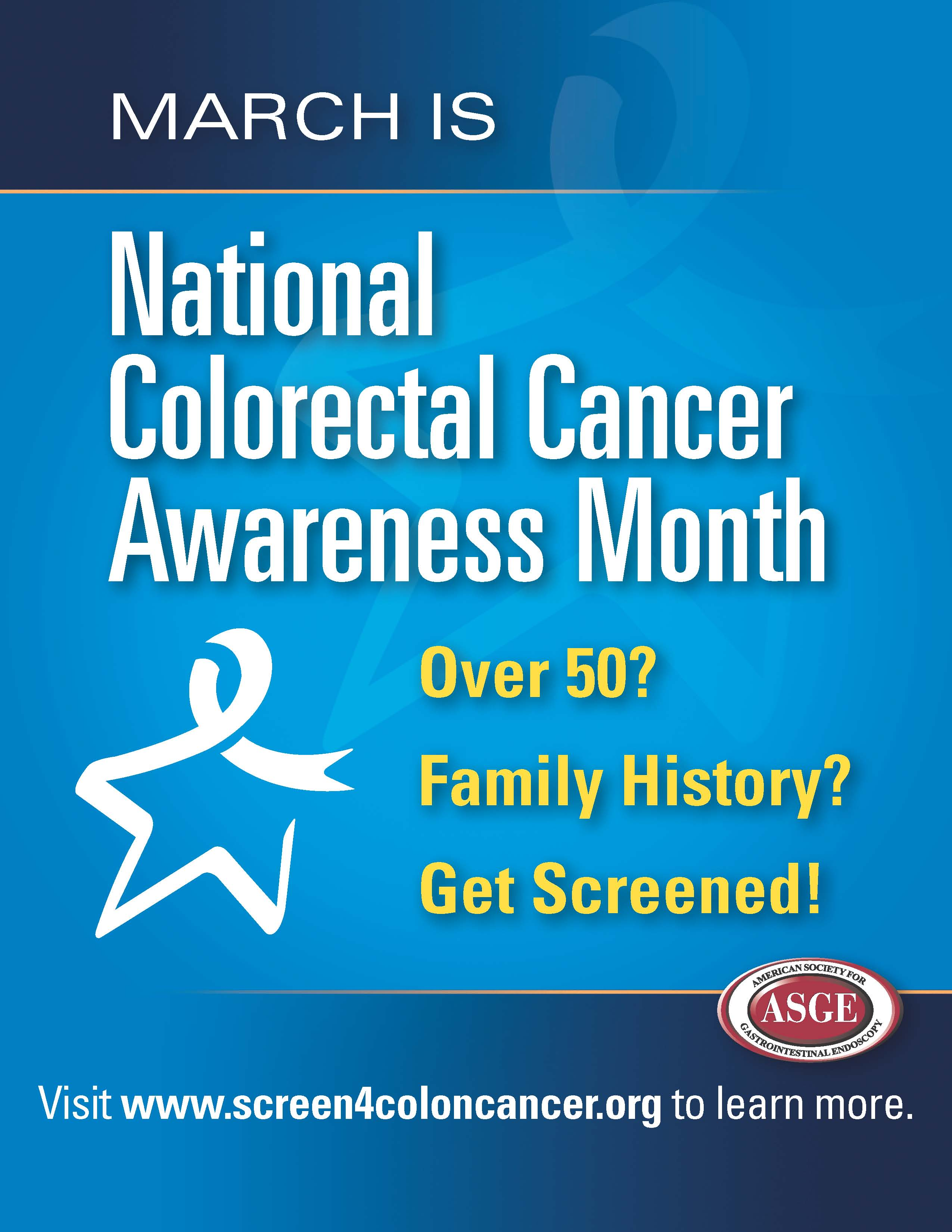 Colonoscopy Room: National Colon Cancer Awareness Month Banner And Poster