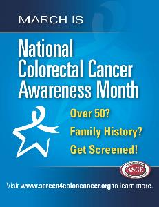 National Colon Cancer Awareness Month Poster