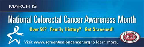 National Colon Cancer Awareness Month Banner